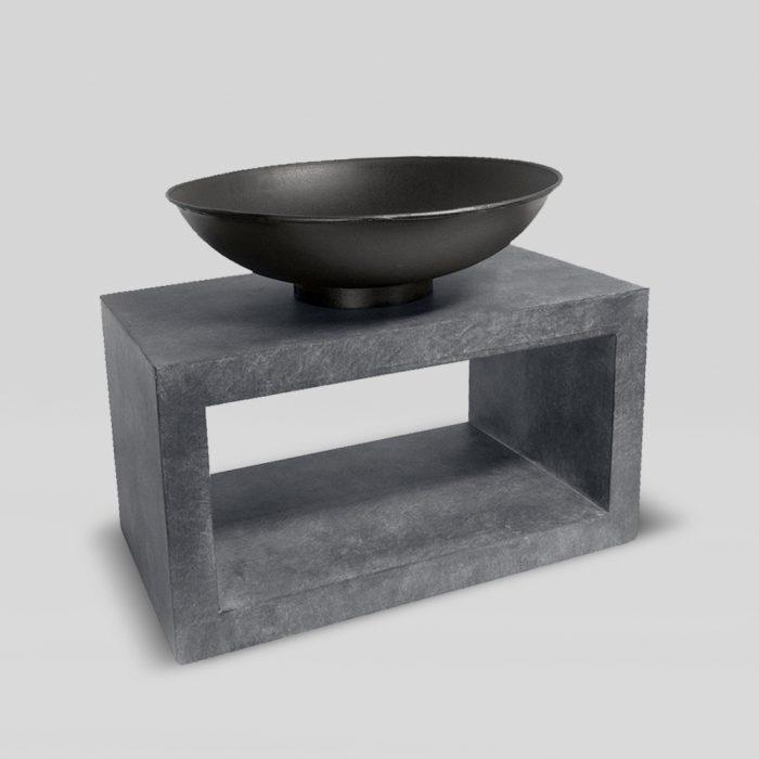 Firebowl & Rectangle Console Granite